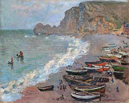 Etretat, Beach and the Porte d'Amont | Monet | veraltet