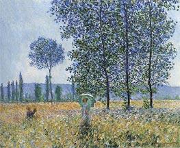 Under the Poplars, Sunlight Effect, 1887 von Monet | Gemälde-Reproduktion