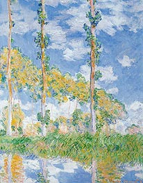 Poplars in the Sun, 1891 von Monet | Gemälde-Reproduktion