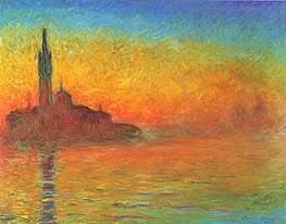 Dämmerung, Venedig in der Dämmerung, 1908 von Monet | Gemälde-Reproduktion