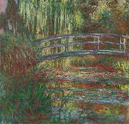 Monet's Water Garden and the Japanese Footbridge, 1900 by Monet | Painting Reproduction
