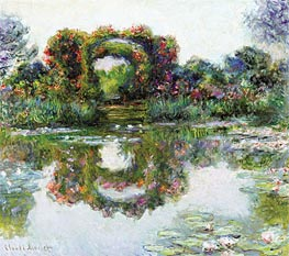 Flowered Arches at Giverny (Rose Covered Pergola) | Monet | Painting Reproduction