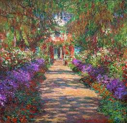 Pfad in Monets Garten in Giverny, c.1901/02 von Monet | Gemälde-Reproduktion