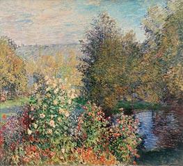 Corner of the Garden at Montgeron, c.1876 von Monet | Gemälde-Reproduktion