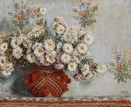 Chrysanthemums, 1878 von Monet | Gemälde-Reproduktion