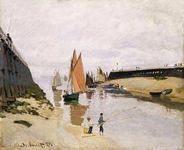 Entrance to the Port of Trouville, 1870 von Monet | Gemälde-Reproduktion