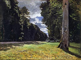 The Chailly Road Through the Forest of Fontainebleau, 1865 von Monet | Gemälde-Reproduktion