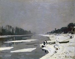 Ice on the Seine at Bougival, c.1864/69 von Monet | Gemälde-Reproduktion