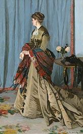 Portrait of Madame Gaudibert, 1868 von Monet | Gemälde-Reproduktion