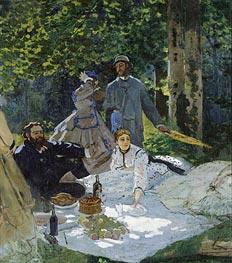Dejeuner sur L'Herbe, Chailly, c.1865/66 von Monet   Gemälde-Reproduktion