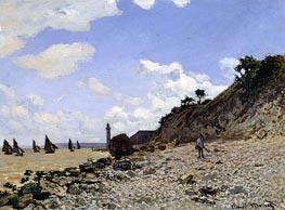 Beach at Honfleur, c.1867 von Monet   Gemälde-Reproduktion
