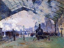 Arrival of the Normandy Train, Gare Saint-Lazare, 1877 von Monet | Gemälde-Reproduktion
