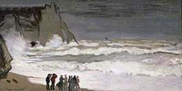Rough Sea at Etretat, c.1868/69 von Monet | Gemälde-Reproduktion