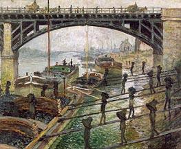 The Coal Dockers, 1875 von Monet | Gemälde-Reproduktion