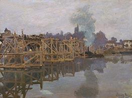 Argenteuil, the Bridge under Repair, 1872 von Monet | Gemälde-Reproduktion