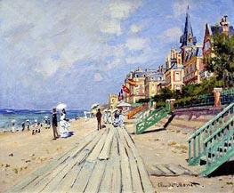 The Boardwalk at Trouville, 1870 von Monet | Gemälde-Reproduktion