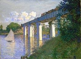 Railroad Bridge, Argenteuil, 1874 von Monet | Gemälde-Reproduktion