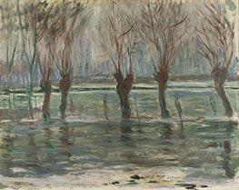 Flood Waters, 1896 von Monet   Gemälde-Reproduktion