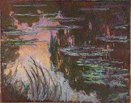 Water-Lilies, Setting Sun, c.1907 von Monet   Gemälde-Reproduktion