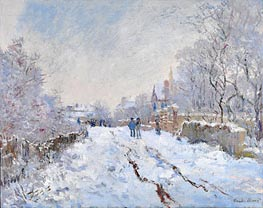 Snow Scene at Argenteuil, 1875 von Monet | Gemälde-Reproduktion