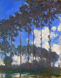 Poplars on the Epte, 1891 von Monet | Gemälde-Reproduktion