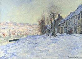 Lavacourt under Snow, 1881 von Monet | Gemälde-Reproduktion