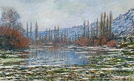 The Thaw at Vetheuil (Melting of Floes), 1881 von Monet | Gemälde-Reproduktion