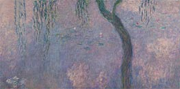Nympheas (The Two Willows) Part 4 | Monet | Painting Reproduction