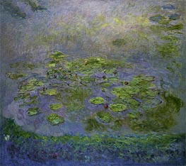 Nympheas (Water Lilies), c.1914/17 by Monet | Painting Reproduction
