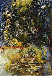 Corner of a Pond with Water Lilies | Monet | Painting Reproduction
