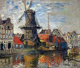 The Windmill, Amsterdam | Monet | Gemälde Reproduktion