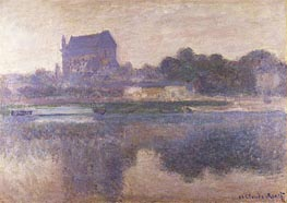 Vernon Church in Fog | Monet | Painting Reproduction