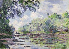 The Seine at Giverny | Monet | Painting Reproduction
