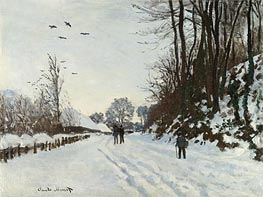 The Road to the Saint-Simeon Farm in Winter | Monet | Painting Reproduction
