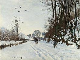 The Road to the Saint-Simeon Farm in Winter | Monet | Gemälde Reproduktion