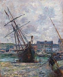 Boote Liegen bei Ebbe bei Fécamp | Monet | Gemälde Reproduktion