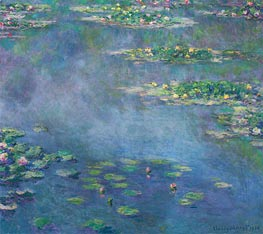 Water Lilies, 1906 by Monet | Painting Reproduction