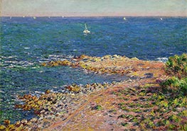 The Mediterranean by Mistral Wind, 1888 by Monet | Painting Reproduction