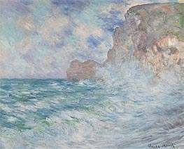 Etretat, Cliff and Upstream Gate | Monet | Painting Reproduction