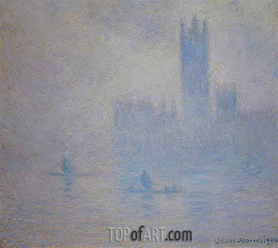 Houses of Parliament, Fog Effect, 1904 | Monet | Gemälde Reproduktion