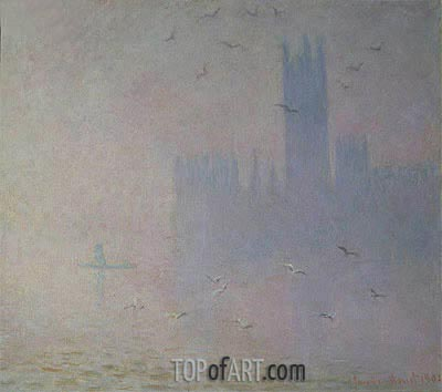 Houses of Parliament, Seagulls, 1904 | Monet| Painting Reproduction