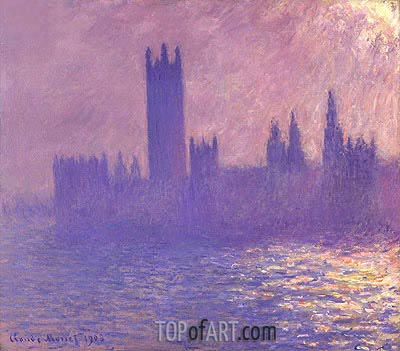 Houses of Parliament, Sunlight Effect, 1903 | Monet| Painting Reproduction