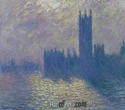 Houses of Parliament, Stormy Sky, 1904 | Monet | Gemälde Reproduktion
