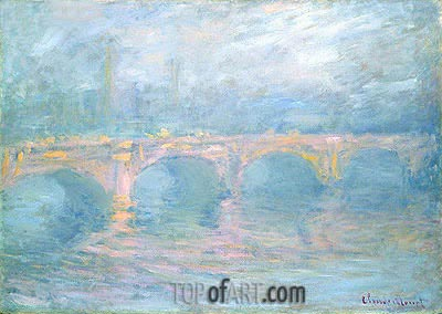 Waterloo Bridge, London, at Sunset, 1904 | Monet| Painting Reproduction