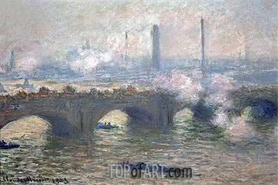 Waterloo Bridge, Gray Day, 1903 | Monet | Painting Reproduction