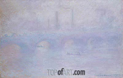 Waterloo Bridge, Effect of Fog, 1903 | Monet| Painting Reproduction