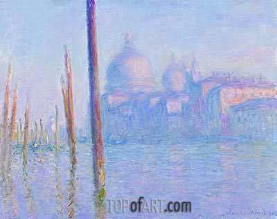 The Grand Canal, Venice, 1908 | Monet | Painting Reproduction