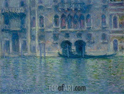 Palazzo da Mula, Venice, 1908 | Monet| Painting Reproduction