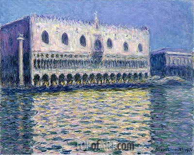The Doge's Palace (Le Palais ducal), 1908 | Monet | Painting Reproduction
