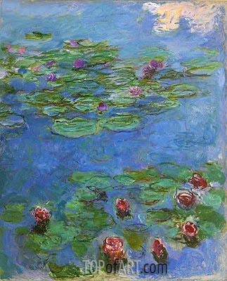 Water Lilies, c.1914/17 | Monet | Gemälde Reproduktion